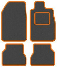 Volvo 940 / 960 90-97 Super Velour Dark Grey/Orange Trim Car mat set