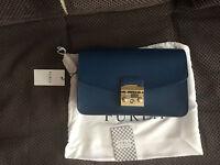 Еxclusive! FURLA METROPOLIS SHOULDER BAG amazing blue .MEDIUM.New model 400euro