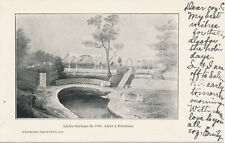 Lititz PA * Lititz Springs in 1848 After a Painting Postcard 1907 * Lancaster Co