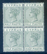 Cyprus Queen Victoria 1892-4 die 2 ½p mint unmounted block 4 (2019/10/01#02)