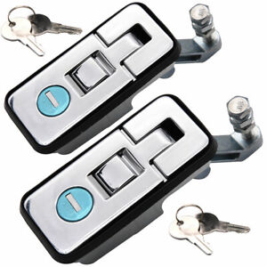 2Pcs Compression Lock Trailer Latch Handle with Keys for Toolbox Camper Trailer