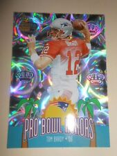 TOM BRADY ( 2002 ) CROWN ROYALE PRO BOWL HONORS HOLOFOIL PRISM CARD PATRIOTS QB