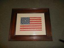 """Framed 37 Star Antique Medallion American Flag 16 1/2"""" x 13 1/2"""" Flag 9""""/5 3/4"""""""