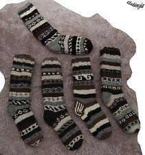Wollsocken Wollstrümpfe Handgestrickt Nepal Warme Winterstrümpfe Strick Natur