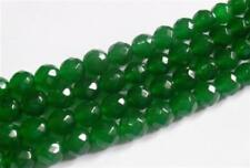 """6mm Natural Green Emerald Faceted Loose Beads Gemstone 15"""" AAA"""