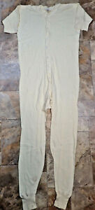 Vintage 80s RUSSELL One Piece UNION SUIT Thermal underwear PAJAMAS Long John 46