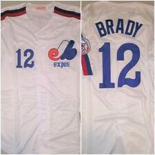SUPER RARE Tom Brady #12 Montreal Expos White Mens XXL Replica Baseball Jersey