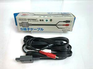 Nintendo S-Video For N64 Super Famicom GameCube Boxed SHVC-009 JAPAN fedex