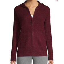 UGG Elyse 100% Cashmere Plum Zip Hoodie Sweater Jacket Size Medium NWT