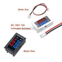 DC 100V 10A Digital Voltmeter Ammeter Dual LED Blue + Red Volt Amp Meter Gauge