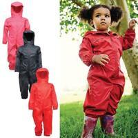 Regatta Kids Paddle 1 Piece Breathable Rainsuit Boys Girls Children Rain Suit