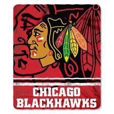 "Licensed Hockey Chicago Blackhawks Fleece Throw Blanket 50"" x 60"""