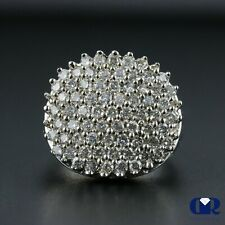 Large Natural Diamond 2.00 Ct Cocktail Ring & Right Hand Ring 14K White Gold