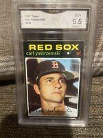1971 Topps #530 Carl Yastrzemski YAZ Boston Red Sox EX+  GMA 5.5 Fresh Slab !