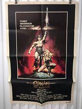 """""""Conan The Barbarian"""", Original 1 Sheet Movie Poster, 1982 Arnold Schwarzenegger"""