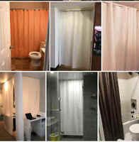 70x70in Polyester Solid Bathtub Shower Curtain Waterproof Mildewproof Bathroom
