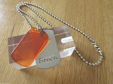 BRAND NEW MENS BENCH DOG TAG WITH BALL CHAIN NECKLACE