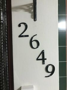"""Black 4"""" 101mm Modern House Number For Door Address Home Number Digits Casual On"""