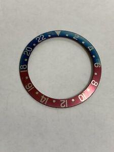 Genuine Vintage Rolex Men's 1675 / 16750 GMT Bezel Insert Red / Blue Red Back