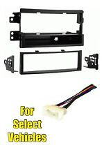 Single Din Stereo Radio Install Dash Trim Car Face Kit Combo for 07-08 Kia Rondo