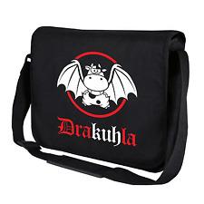 Drakuhla | Dracula | Kuh | Cow | Fun | Schwarz | Umhängetasche | Messenger Bag