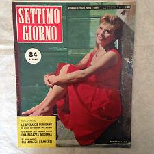 RIVISTA SETTIMO GIORNO 41 10/1957 MARISA ALLASIO C. MACELLONI ONASSIS W. CHIARI