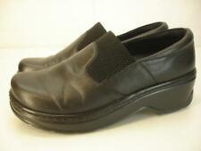 Women's 8.5 M Klogs Naples Black Leather Clogs Comfort Shoes Slip Resistant Work