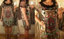 Anna Sui For Anthropologie Size 6 Paisley Pixie Dress 100% Silk Light & Airy