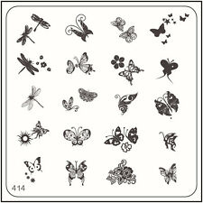 MoYou Nail Fashion Stamping Nail Art Image Plate 414 Bridal style Butterfly