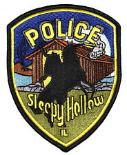 SLEEPY HOLLOW ILLINOIS IL Sheriff Police Patch HEADLESS HORSEMAN COVERED BRIDGE