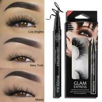 Phoera Fake Magnetic Eyelashes Waterproof Eyeliner Eye Liner Reusable False Lash
