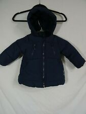 Zara Baby Winter Vibes Puffy Hooded Jacket  Faux Fur Jacket 18-24 months Black