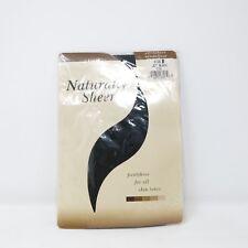 Vtg Naturally Sheer Jet Black ultrasheer Sandal Foot Pantyhose Nos Sz B Nylon