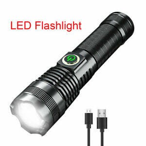Rechargeable 1000000 Lumens xhp 70 Most Powerful LED Flashlight USB Zoom Torch