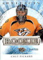 2012-13 Artifacts Predators Hockey Card #182 Chet Pickard Rookie /999