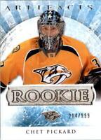 2012-13 Artifacts Predators Hockey Card #182 Chet Pickard Rookie /999