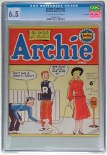 CGC 6.5~ARCHIE COMICS #1~1950~UK EXCLUSIVE~GOLDEN AGE~HIGHEST GRADE!~SCARCE