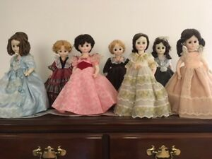 """Madame alexander first ladies""""dolls 12"""",incomplete set is now offered as 4 dolls"""