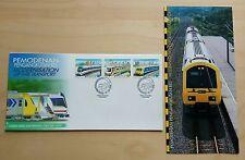 1998 Malaysia Modernisation Rail Transport 3v Stamps FDC (Melaka Cachet)