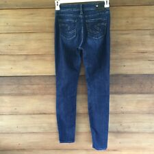 SILVER Womens Size 27 x 31 SUKI JEGGING Blue Denim Jeans