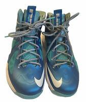 Nike Lebron X 10 Boy's Blue/Windchill Blue Basketball Shoes Size 7Y #543564-400