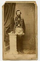 Man & Masonic Regalia FLT , Vintage CDV Photo