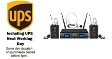 Pulse PWM2000UHF BP Dual Channel Headset / Lapel Wireless Microphone System.