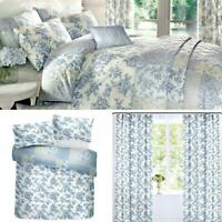 Blue Duvet Covers Floral Patchwork Toile Country Quilt Cover Luxury Bedding Sets