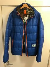 Blue Superdry Mens Puffa Jacket With Zip Off Sleeves Size M