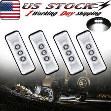 4 Pods White LED Rock Light Fender Underbody Lights For JEEP Offroad Truck UTV