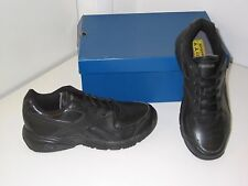 Reebok Time and A Half III Blk Leather Walking Sneakers Shoes Mens 7.5 Womens 9