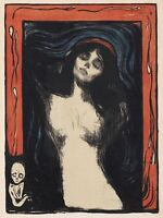 Painting Edvard Munch Madonna 2 Picture Canvas Art Print