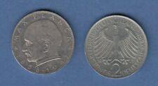 Bundesrepublik Kursmünze 2 Mark Max Planck 1971 D
