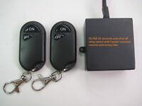 12V DC 15A auto 10 minutes shutoff relay switch 2 remote control key fob